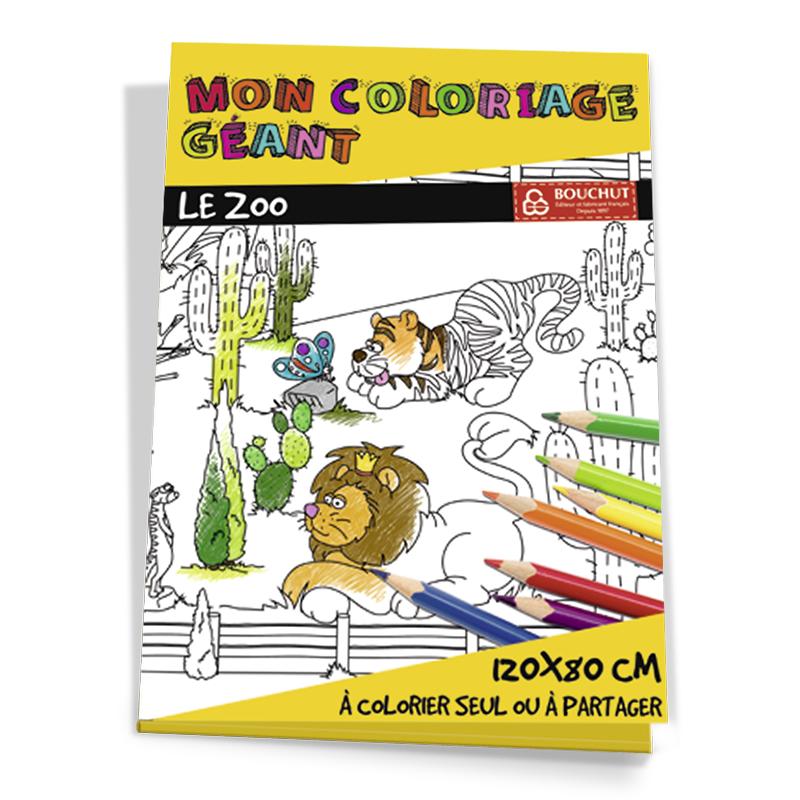 Coloriage Geant Le Zoo Bouchut Papeterie